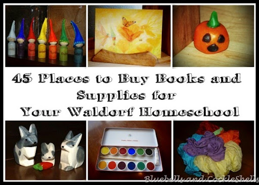 45 Places to Buy Books and Supplies for Your Waldorf Homeschool