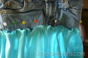 Playground Skirt Tutorial Pinning Done