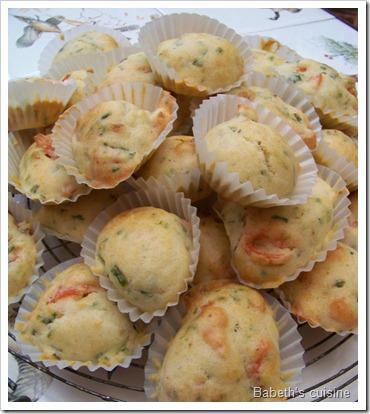mini muffins saumon ciboulette