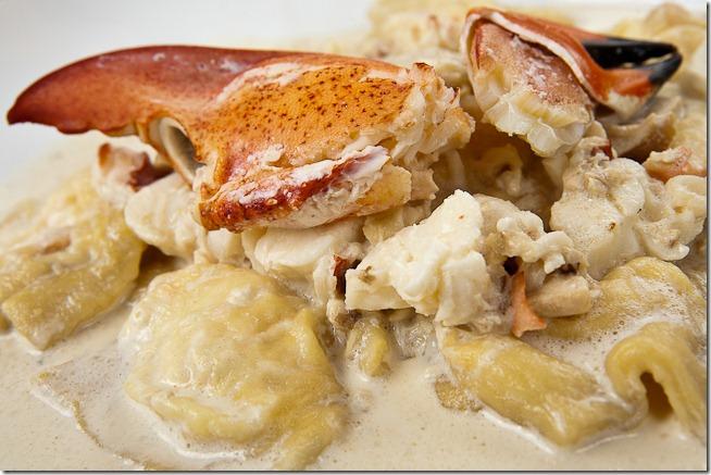 Lobster Ravioli with Truffle Mushroom Cream Sauce-2