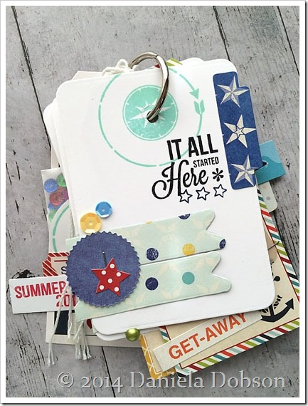 Summer 2014 mini album page 1 by Daniela Dobson