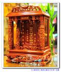 【豪華氣派寬版一尺祖龕】祖先的高級陽光花梨木小木屋~精緻雕工~公媽龕祖先牌位