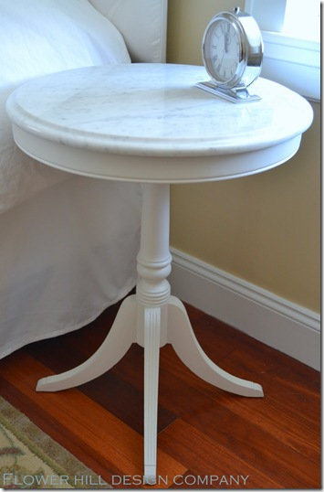 Flower Hill Design Company - Carrara top bedside table