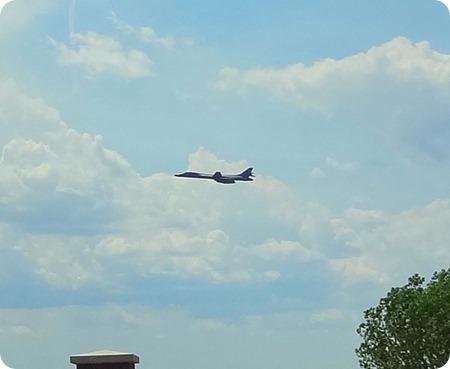B-1 in flight