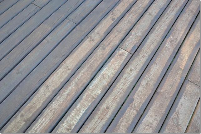 unfinished deck