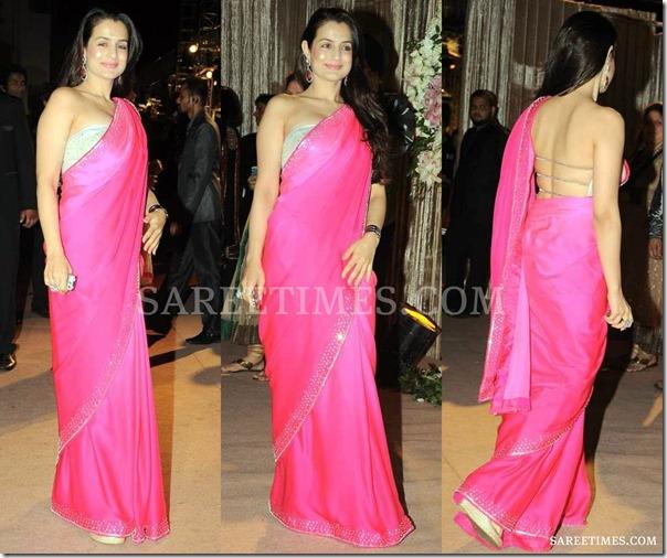 Amisha_Patel_Pink_Saree