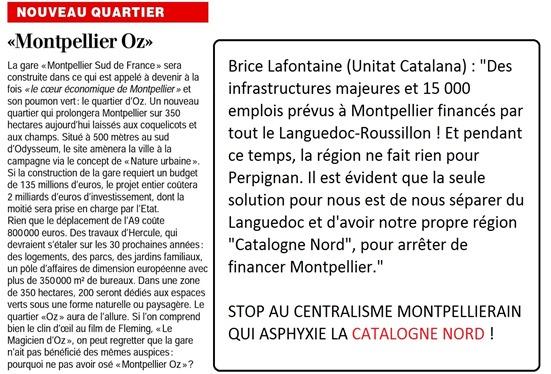 Montpelhièr Oz criticat per Unitat Catalana