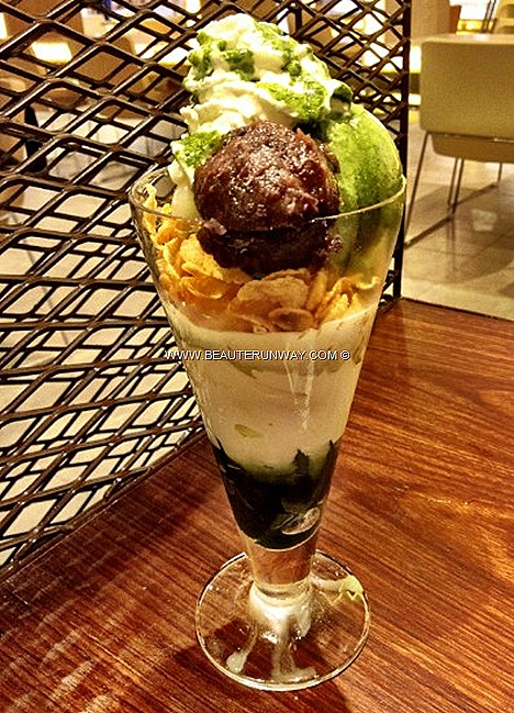 Nana's Green Tea Cafe Japanese restaurant Matcha lattes, desserts ice cream float Hoji Chocolate Latte Genmai Cha Anmitsu salmon don Mushi Dori Goma Dare Udon favourites Plaza Singapura
