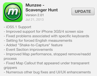 Munzee 2.01 for iOS
