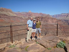At Plateau Point in the Grand Canyon with John