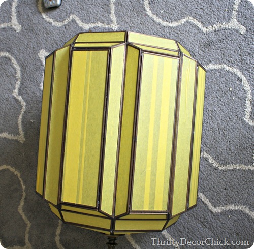 taping off glass on light fixture
