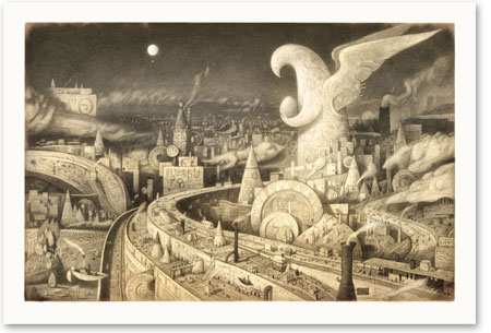 the city in Shaun Tan's The Arrival