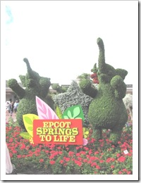 Florida vacation Epcot topiary welcome to Epcot Elephants2