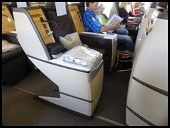a Swiss long haul seats