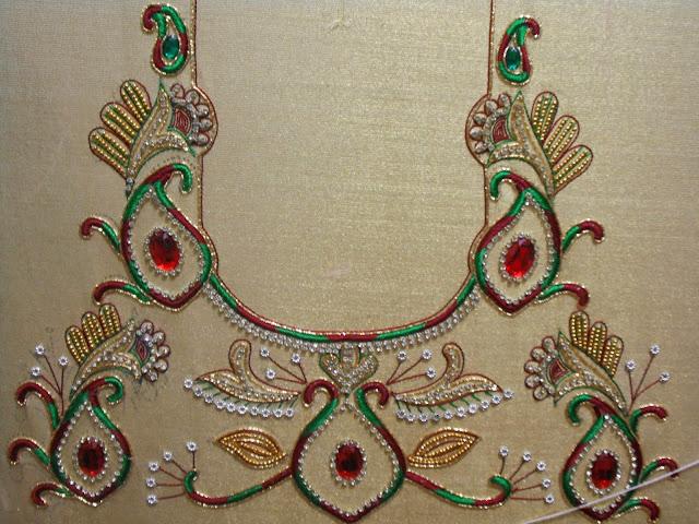 Zardosi Work Blouse Design 69