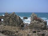 The wedded rocks shrine, out on the rocks along the west coast of Tanegashima