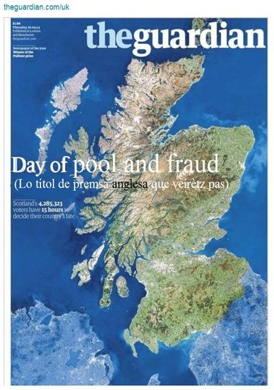 Portada The Guardians referèndum 18092014 fraud and pool