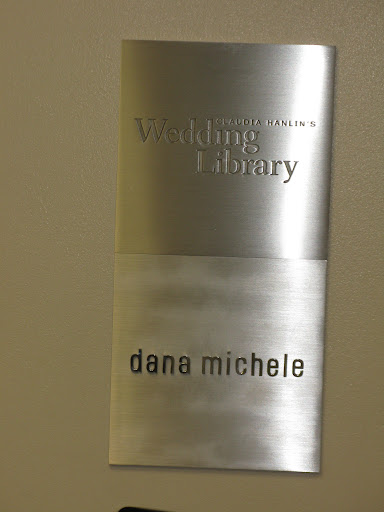 Here, the welcome plaque at the Wedding Library's new space.