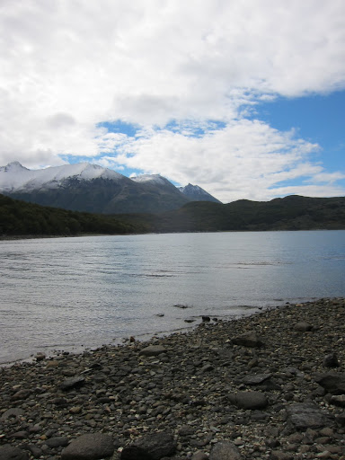 The end of the snow-capped Andes Mountain range in Tierra del Fuego National Park.