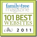 Ancestry Insider is one of the 101 Best Websites 2011