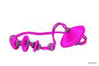 Nowoczesna obejma dekoracyjna do zasłon i tkanin z magnesem. Różowa.