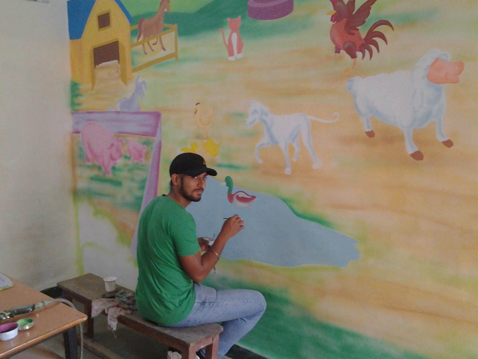 Kids school classroom wall murals andheri santakruz for Classroom wall mural