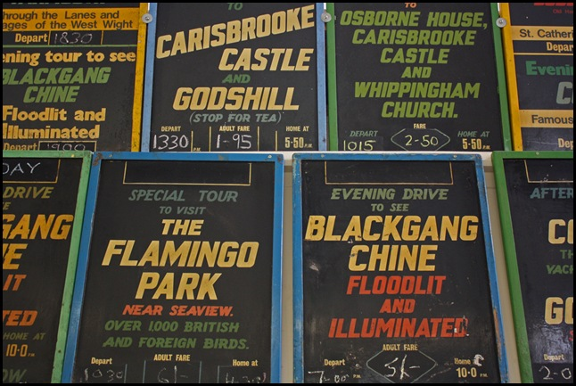Bus boards at the Isle of Wight Bus Museum
