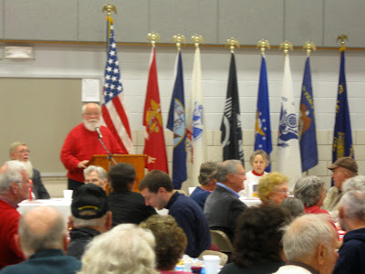 Dave Stouffer begins the program and speaks on behalf of F-Troop in Washington.