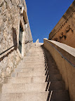 Stairs to the top of the city walls
