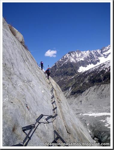 Descenso del Valle Blanco esquiando (Chamonix, Alpes) 5418
