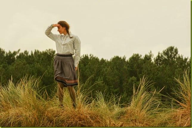 perfect tweed midi skirt