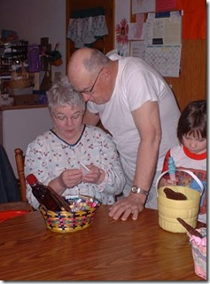 Grandpa and Grandma look in their basket