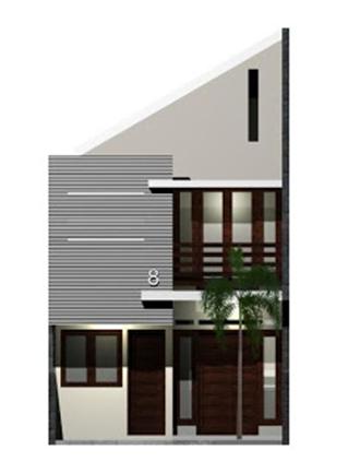 denah rumah lebar 5 meter tampak depan