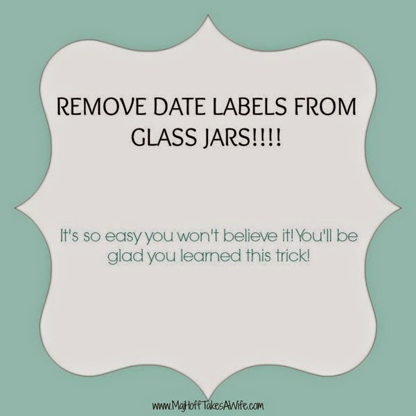 Remove dates in ink from glass bottles