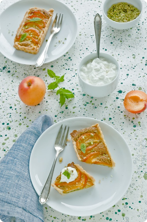 Apricot and Pistachio Frangipane Tart (0059) by Meeta K. Wolff