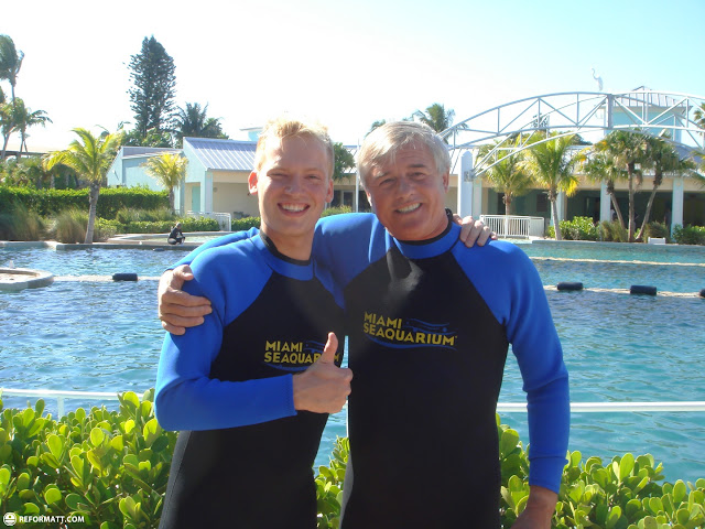 met this nice guy from Santiago, Chile at the Miami Seaquarium - swimming with dolphins in Miami, Florida, United States