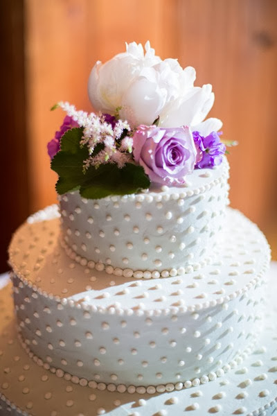 NH wedding flowers 54 purple cake topper