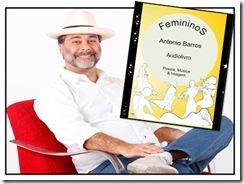 """Lançamento do livro """"Femininos"""" - cartaz"""