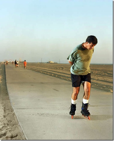 Runners, Roller Blader, Santa Monica, CA