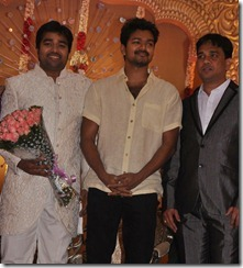 Actor Vijay at Mirchi Shiva Wedding Reception Photos