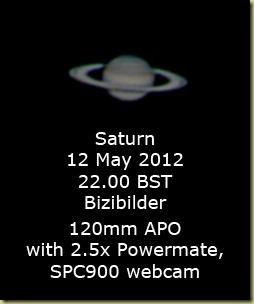 12 May 2012 Saturn
