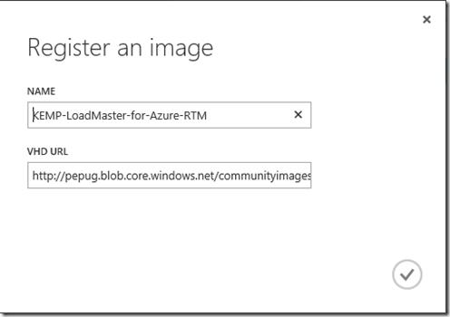 VHD - Registering an image