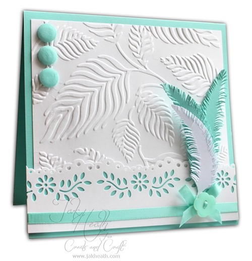 Feathers blush card