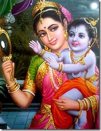 Mother Kausalya with Lord Rama