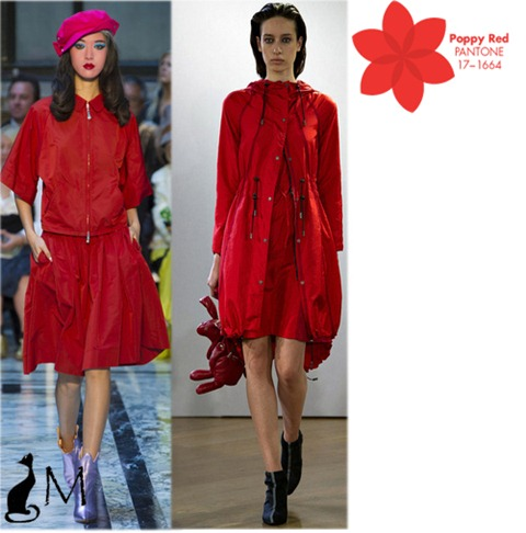 poppy red pantone SS 2013 london fashion week Vivienne Westwood christopher raeburn