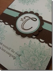 Card Class 1 Monograms sneak peek