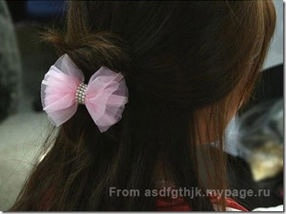 Make-pink-hair-ties-with-bow-1