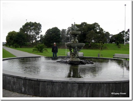 Fountain at Caroline Bay gardens.