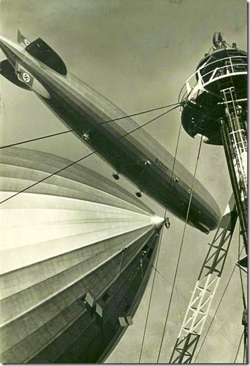 Graf Zeppelin awaits Hindenburg 3-26-36