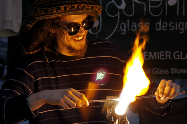 June 2010 - 2nd Place / Glass blower at Downtown Art Walk / Photo Credit: Juline Bajada